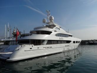 Eine Yacht