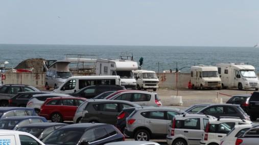 Parkplatz unterhalb von Monterosso al Mare