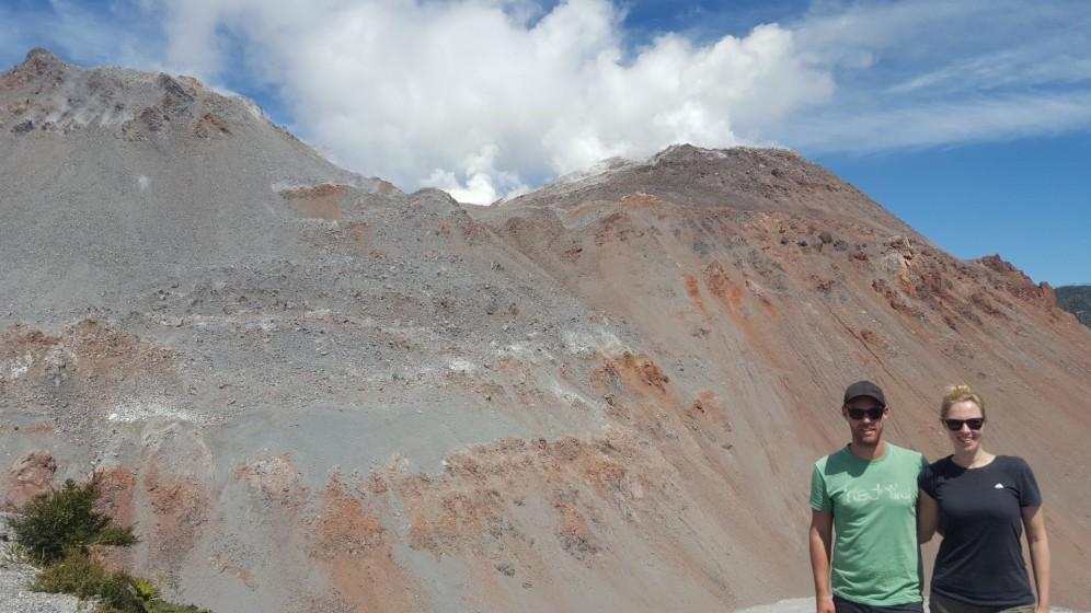 Wir am Vulkan Chaiten