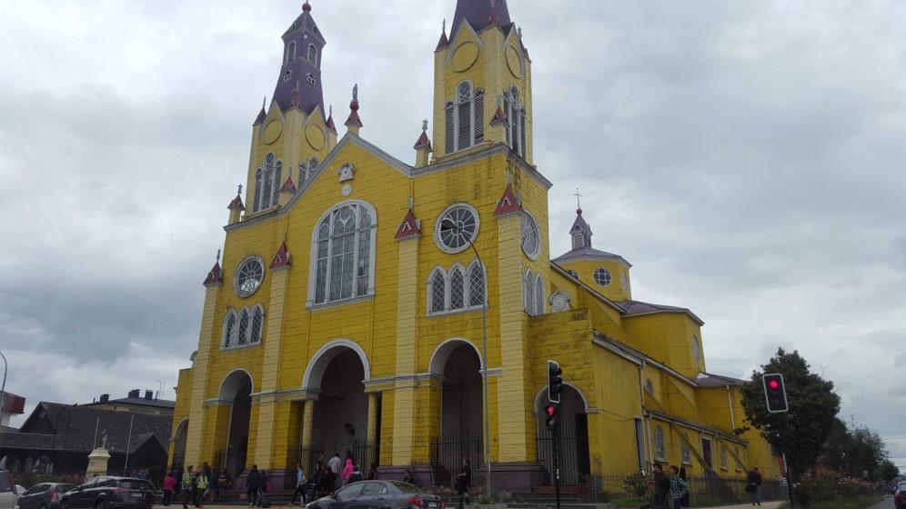 Holzkirche in Castro auf Chiloe
