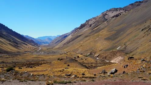 Landschaft auf dem Weg nach Mendoza