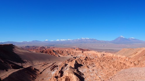 Blick auf das Valle de la Muerte