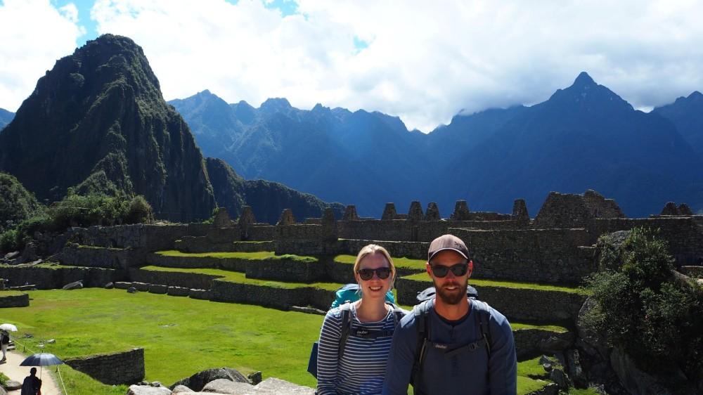 Im Innenhof von Machu Picchu