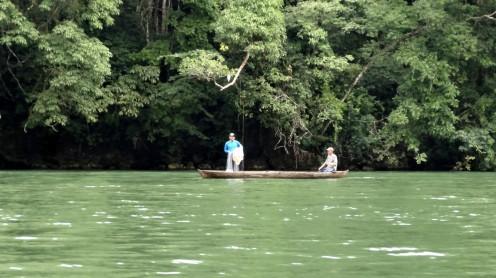 Fischer auf dem Rio Dulce