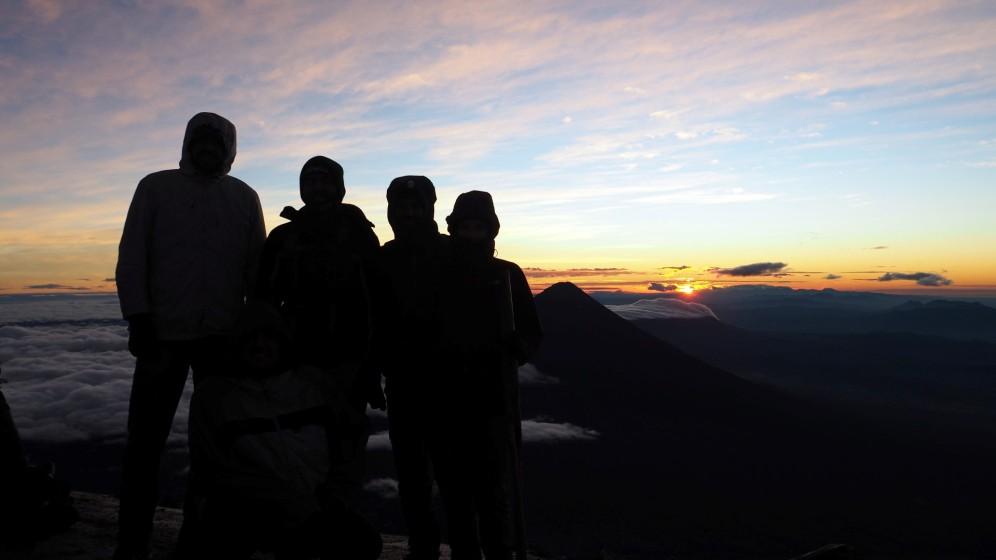 Sonnenaufgang über Guatemala