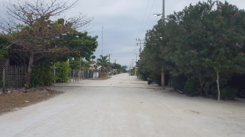 Straße durch Xcalak