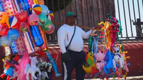 Straßenverkäufer in San Miguel