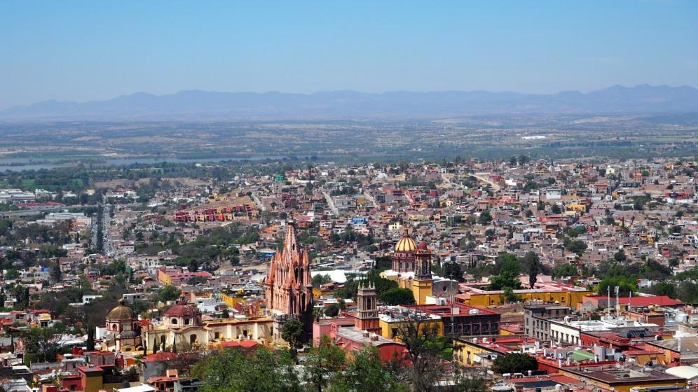 San Miguel de Allende von oben