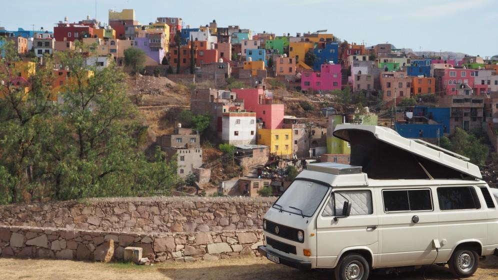 Camping mit Blick auf Guanajato