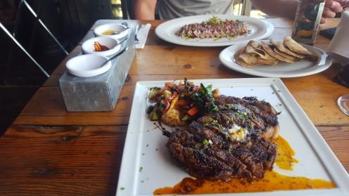 Lecker Fisch und Steak