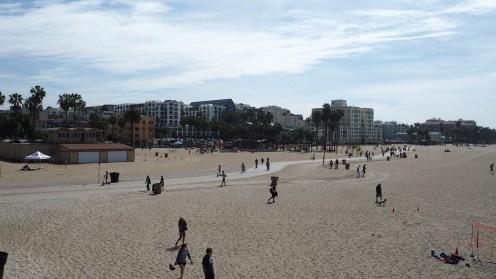 am Strand von Santa Monica
