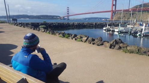 Frühstück an der Golden Gate Bridge