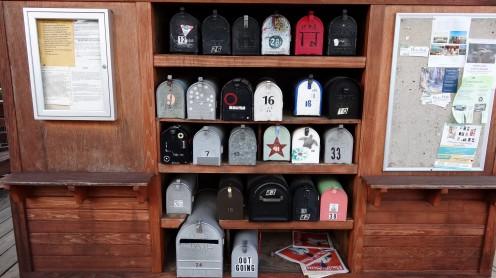 Briefkästen für Hausboote