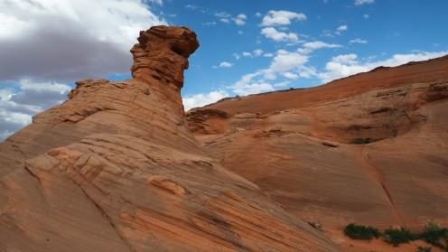 Felsformation aus rotem Gestein