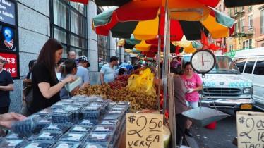 Marktstand in Chinatown