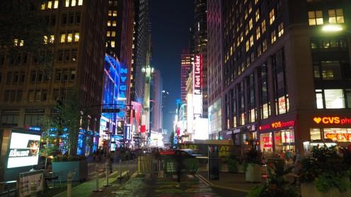 auf dem Weg zum Times Square