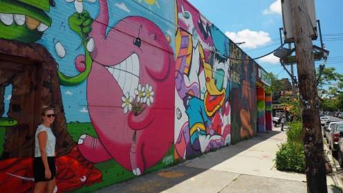 auf Graffiti Erkundungstour